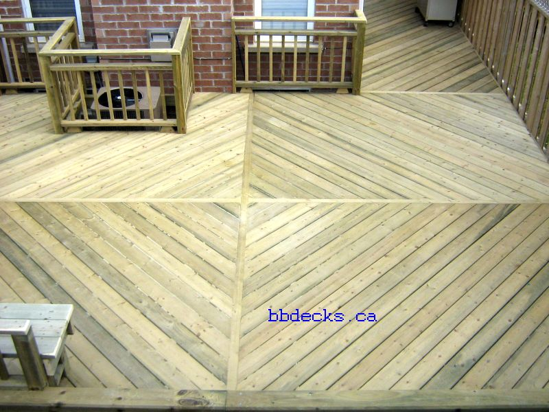 Wood Deck Elevation : Low decks deck designs elevation